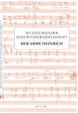 Schmidt, Birgit / Tybout, Rollf (Hrsg): Mitteilungen der Hans Pfitzner-Gesellschaft Heft 75