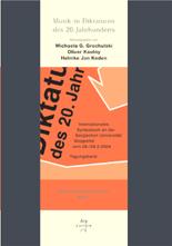 Grochulski / Kautny / Keden (Hrsg): Musik in Diktaturen des 20. Jahrhunderts