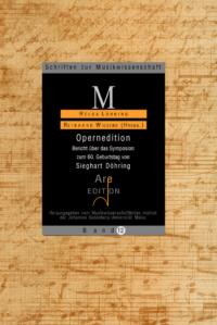 Lühning, Helga / Wiesend, Reinhard (Hrsg): Opernedition